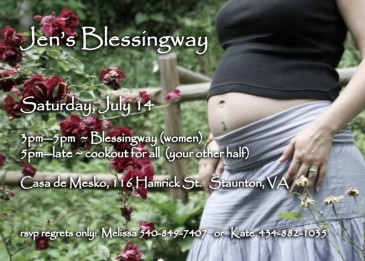 Mother Blessing Invitation